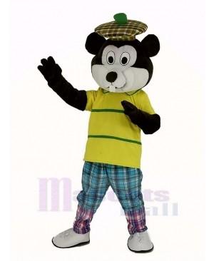 Golfing Gopher with Yellow T-Shirt Mascot Costume