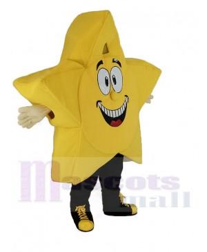 Yellow Comic Star Mascot Costume