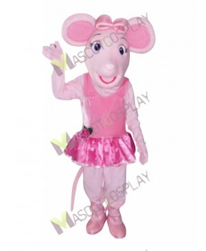 High Quality Adult Angelina Ballerina Mouse Mascot Costume