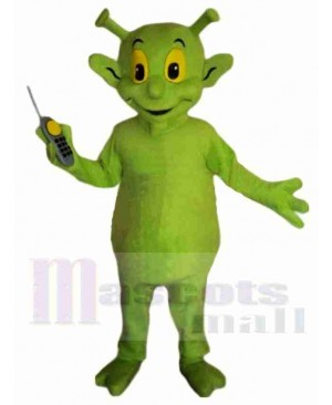 Cute Green Alien Mascot Costume