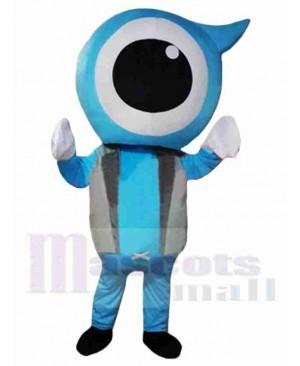 Blue Eyeball Mascot Costume