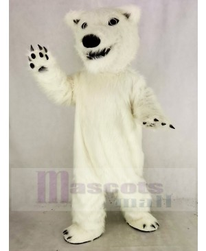 White Polar Bear Mascot Costume Animal
