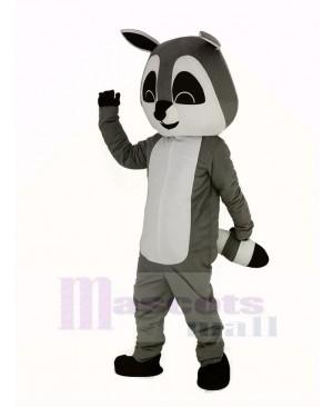 Gray Raccoon Mascot Costume Adult