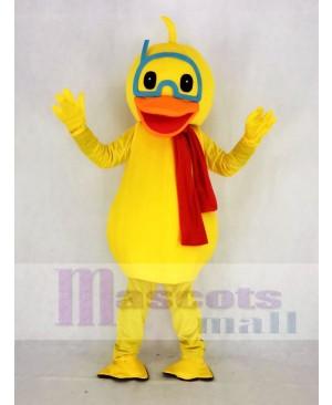 Cute Yellow Duck Mascot Costume Animal