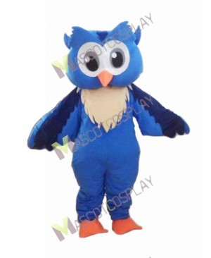 Adult Friendly Big Blue Owl Mascot Costume