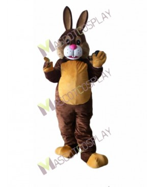 Happy Easter Brown Bunny Mascot Costume