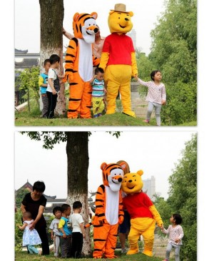 Winnie the Pooh Bear or the Tigger Tiger Mascot Costume