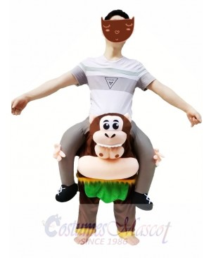 Brown Monkey Piggyback Carry Me Ride on Cheeky Monkey Mascot Costume