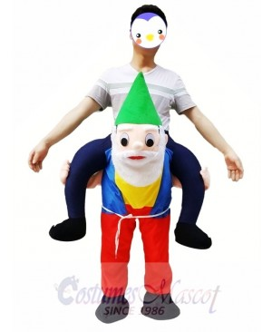 Back Shoulder Garden Gnome Carry Me Mascot Ride Costume Christmas Party Outfit
