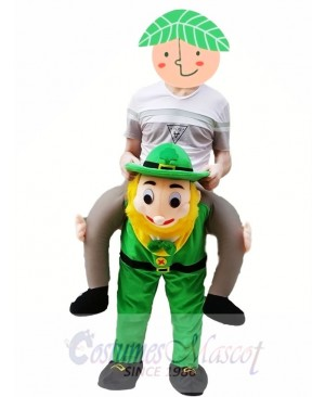 Piggy Back Costume Irish Carry Me Leprechaun Mascot Costume Clover St Patricks Day