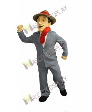 High Quality Adult Charlie Man in Suit Mascot Costume
