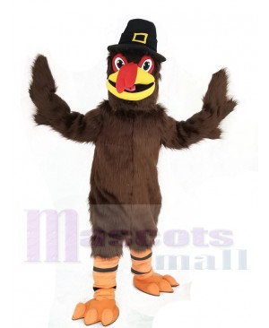 Thanksgiving Turkey with Black Hat Mascot Costume
