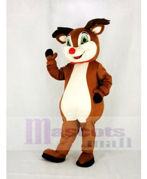 Reindeer with Red Nose Mascot Costume Animal