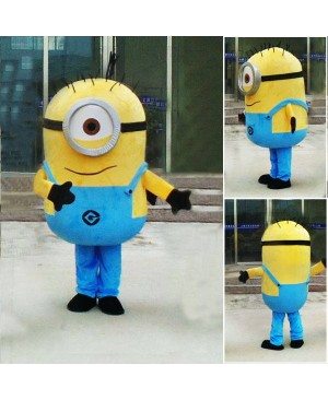Despicable Me Minions Mascot Costume Custom Fancy Costume Anime Cosplay Mascotte Theme Fancydress Carnival Costume Free Shipping