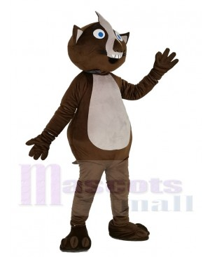 Brown Wombat Mascot Costume Animal