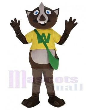 Wombat in Yellow T-shirt Mascot Costume