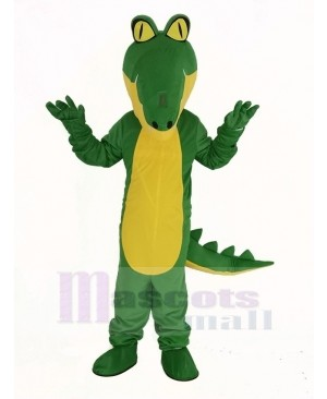 Crocodile with Yellow Belly Mascot Costume
