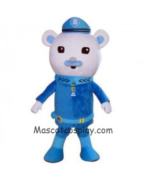 Hot Sale Adorable Realistic New Captain Barnacles Polar Bear Mascot Costumes from Octonauts Film Octonauts Cosplay