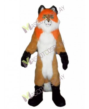 Fierce Orange Fox Wolf Mascot Costume