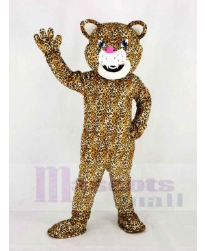 Funny Jaguar with Blue Eyes Mascot Costume Animal