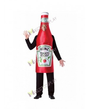 High Quality Adult Heinz Classic Ketchup Bottle Tomato Sauce Mascot Costume