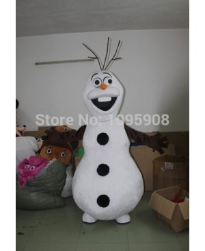 High Quality Frozen Olaf Mascot Costume Snowman Mascot Costume Adult Party Carnival Halloween Christmas Mascot Free Shipping