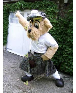 High Quality Adult Scotland Taxi Driver Dog Mascot Costume