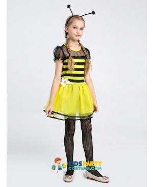 Girls Sweet Bee Insert Themed Party Fancy Halloween Costume Carnival Anime