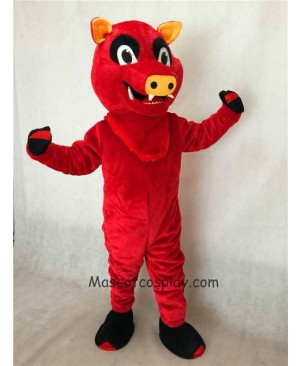 Hot Sale Adorable Realistic New Red Razorback Feral Pig Hog Wild Boar Mascot Costume