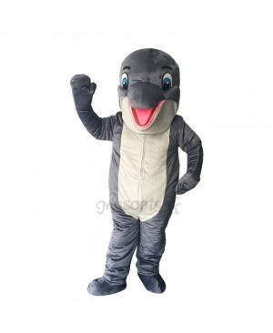 New Lovely Grey Dolphin Mascot Costume