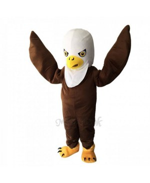 Brown Long Wool Eagle Mascot Adult Costume