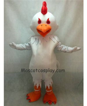Hot Sale Adorable Realistic New Big White Chanticleer Cock Rooster Mascot Costume