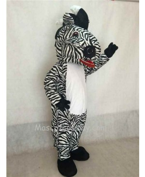 Hot Sale Adorable Realistic New Popular Professional White Belly Zebra Mascot Costume