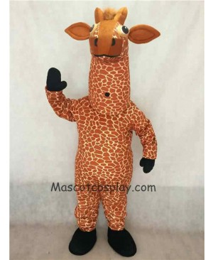 Hot Sale Adorable Realistic New Giraffe Mascot Costume with Black Feet