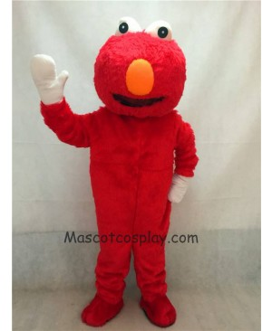 Hot Sale Adorable Realistic New Popular Professional Super Long Hair Red Monster Elmo Sesame Street Mascot Costume