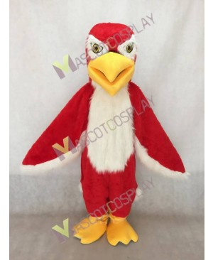 New Red Hawk Falcon with White Belly Mascot Costume