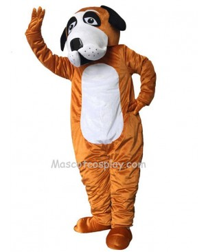 Cute Brown Billie Bernard Dog Mascot Costume