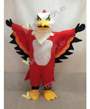 Cute Red and Orange Thunderbird Mascot Costume