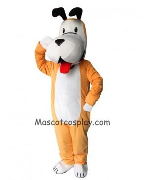 Cute White and Yellow Dog Mascot Costume