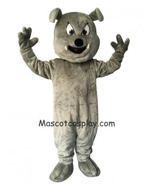 Cute Gray Buster Bulldog Dog Mascot Costume