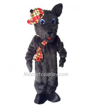 Cute Black Scotty Dog Mascot Costume