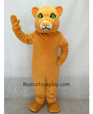 Cougar Mascot Costume with Green Eyes
