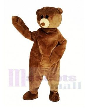 Brown Teddy Bear Mascot Costume