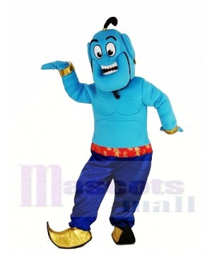 Blue Jinn Genie Mascot Costume from Shimmer and Shine
