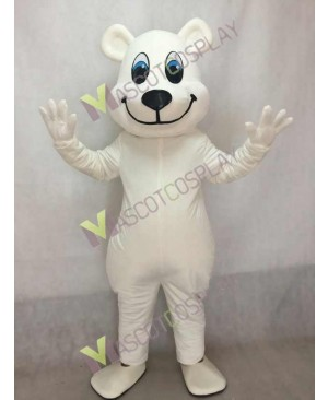 New White Breezy Polar Bear Mascot Costume