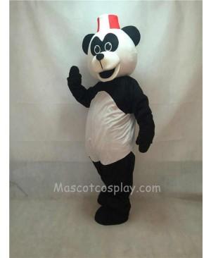 Cute Peter Panda with Hat Mascot Costume