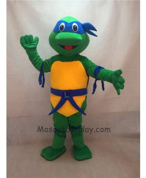 High Quality TMNT Teenage Mutant Ninja Turtle Leonardo Adult Character Halloween Party Carnival Mascot Costume