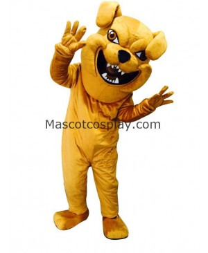 Cute Yellow Bully Dog Costume Mascot
