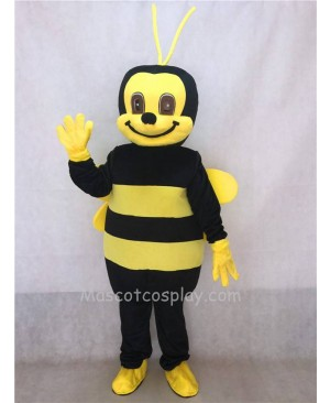 Hot Sale Adorable Realistic New Popular Professional Black and Yellow Honey Bee Adult Mascot Costume