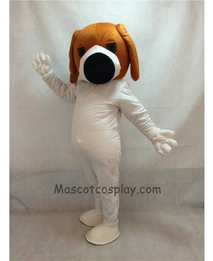 Cute Dog With Big Black Nose Adult Mascot Costume